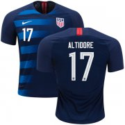 Wholesale Cheap USA #17 Altidore Away Kid Soccer Country Jersey