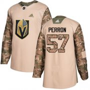 Wholesale Cheap Adidas Golden Knights #57 David Perron Camo Authentic 2017 Veterans Day Stitched Youth NHL Jersey