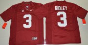 Wholesale Cheap Men's Alabama Crimson Tide #3 Calvin Ridley Red Limited Stitched College Football Nike NCAA Jersey