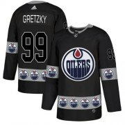 Wholesale Cheap Adidas Oilers #99 Wayne Gretzky Black Authentic Team Logo Fashion Stitched NHL Jersey
