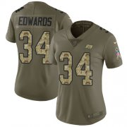 Wholesale Cheap Nike Buccaneers #34 Mike Edwards Olive/Camo Women's Stitched NFL Limited 2017 Salute To Service Jersey