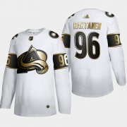 Wholesale Cheap Colorado Avalanche #96 Mikko Rantanen Men's Adidas White Golden Edition Limited Stitched NHL Jersey
