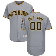 Wholesale Cheap Pittsburgh Pirates Majestic Road Flex Base Authentic Collection Custom Jersey Gray