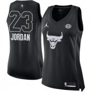 Wholesale Cheap Nike Chicago Bulls #23 Michael Jordan Black Women's NBA Jordan Swingman 2018 All-Star Game Jersey
