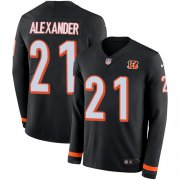Wholesale Cheap Nike Bengals #21 Mackensie Alexander Black Team Color Youth Stitched NFL Limited Therma Long Sleeve Jersey