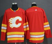 Wholesale Cheap Adidas Flames Blank Red Alternate Authentic Stitched NHL Jersey
