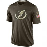 Wholesale Cheap Men's Tampa Bay Lightning Salute To Service Nike Dri-FIT T-Shirt