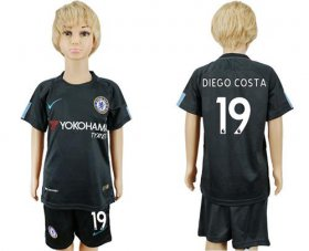 Wholesale Cheap Chelsea #19 Diego Costa Sec Away Kid Soccer Club Jersey