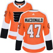 Wholesale Cheap Adidas Flyers #47 Andrew MacDonald Orange Home Authentic Women's Stitched NHL Jersey