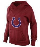 Wholesale Cheap Women's Indianapolis Colts Logo Pullover Hoodie Red-1