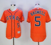 Wholesale Cheap Astros #5 Jeff Bagwell Orange Flexbase Authentic Collection Stitched MLB Jersey
