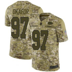 Wholesale Cheap Nike Chiefs #97 Alex Okafor Camo Men\'s Stitched NFL Limited 2018 Salute To Service Jersey
