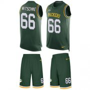 Wholesale Cheap Nike Packers #66 Ray Nitschke Green Team Color Men's Stitched NFL Limited Tank Top Suit Jersey