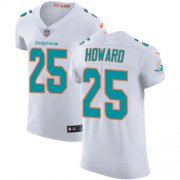 Wholesale Cheap Nike Dolphins #25 Xavien Howard White Men's Stitched NFL Vapor Untouchable Elite Jersey