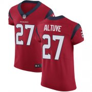 Wholesale Cheap Nike Texans #27 Jose Altuve Red Alternate Men's Stitched NFL Vapor Untouchable Elite Jersey