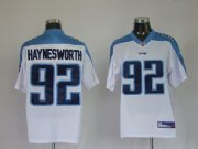 Wholesale Cheap Titans #92 Albert Haynesworth White Stitched Jersey