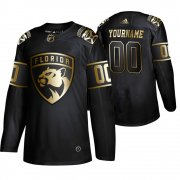 Wholesale Cheap Adidas Panthers Custom Men's 2019 Black Golden Edition Authentic Stitched NHL Jersey