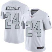 Wholesale Cheap Nike Raiders #24 Charles Woodson White Youth Stitched NFL Limited Rush Jersey