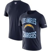 Wholesale Cheap Los Angeles Chargers Nike Team Logo Sideline Property Of Performance T-Shirt Navy