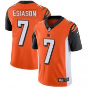 Wholesale Cheap Nike Bengals #7 Boomer Esiason Orange Alternate Youth Stitched NFL Vapor Untouchable Limited Jersey