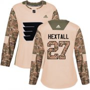 Wholesale Cheap Adidas Flyers #27 Ron Hextall Camo Authentic 2017 Veterans Day Women's Stitched NHL Jersey