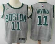 Wholesale Cheap Men's Boston Celtics #11 Kyrie Irving Gray NBA Swingman City Edition Jersey