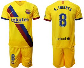 Wholesale Cheap Barcelona #8 A.Iniesta Away Soccer Club Jersey