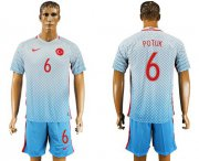 Wholesale Cheap Turkey #6 Potuk Away Soccer Country Jersey