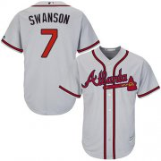 Wholesale Cheap Braves #7 Dansby Swanson Grey Cool Base Stitched Youth MLB Jersey