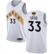 Wholesale Cheap Raptors #33 Marc Gasol White 2019 Finals Bound Basketball Swingman City Edition 2018-19 Jersey