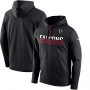 Wholesale Cheap Men's Atlanta Falcons Nike Black Sideline Circuit Pullover Performance Hoodie