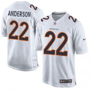 Wholesale Cheap Nike Broncos #22 C.J. Anderson White Men's Stitched NFL Game Event Jersey