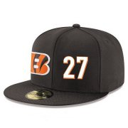 Wholesale Cheap Cincinnati Bengals #27 Dre Kirkpatrick Snapback Cap NFL Player Black with White Number Stitched Hat