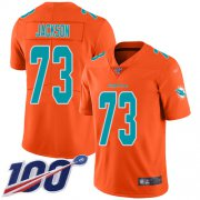 Wholesale Cheap Nike Dolphins #73 Austin Jackson Orange Men's Stitched NFL Limited Inverted Legend 100th Season Jersey