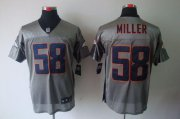 Wholesale Cheap Nike Broncos #58 Von Miller Grey Shadow Men's Stitched NFL Elite Jersey