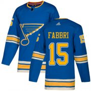 Wholesale Cheap Adidas Blues #15 Robby Fabbri Light Blue Alternate Authentic Stitched NHL Jersey