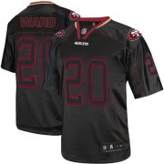 Wholesale Cheap Nike 49ers #20 Jimmie Ward Lights Out Black Men's Stitched NFL Elite Jersey