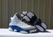 Wholesale Cheap Air Jordan 13 Retro Shoes White/Italy Blue-Wolf Grey