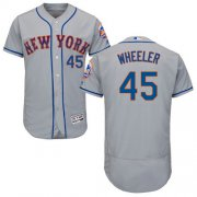 Wholesale Cheap Mets #45 Zack Wheeler Grey Flexbase Authentic Collection Stitched MLB Jersey
