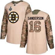 Wholesale Cheap Adidas Bruins #16 Derek Sanderson Camo Authentic 2017 Veterans Day Stanley Cup Final Bound Stitched NHL Jersey