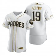 Wholesale Cheap San Diego Padres #19 Tony Gwynn White Nike Men's Authentic Golden Edition MLB Jersey