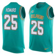 Wholesale Cheap Nike Dolphins #25 Xavien Howard Aqua Green Team Color Men's Stitched NFL Limited Tank Top Jersey