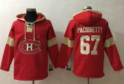Wholesale Cheap Canadiens #67 Max Pacioretty Red Pullover NHL Hoodie