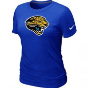 Wholesale Cheap Women's Nike Jacksonville Jaguars Logo NFL T-Shirt Blue