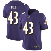Wholesale Cheap Nike Ravens #43 Justice Hill Purple Team Color Youth Stitched NFL Vapor Untouchable Limited Jersey