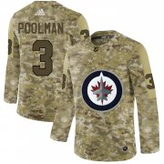 Wholesale Cheap Adidas Jets #3 Tucker Poolman Camo Authentic Stitched NHL Jersey