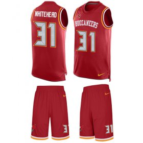 Wholesale Cheap Nike Buccaneers #31 Jordan Whitehead Red Team Color Men\'s Stitched NFL Limited Tank Top Suit Jersey