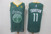 Wholesale Cheap Warriors 11 Klay Thompson Green Nike Authentic Jersey