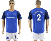 Wholesale Cheap Everton #2 Schneiderlin Home Soccer Club Jersey