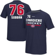 Wholesale Cheap Montreal Canadiens #76 PK Subban Reebok CI Freeze Supremium Name & Number T-Shirt Navy